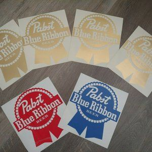 PBR Pabst Blue Ribbon Brew Sticker Vinyl Decal Cla